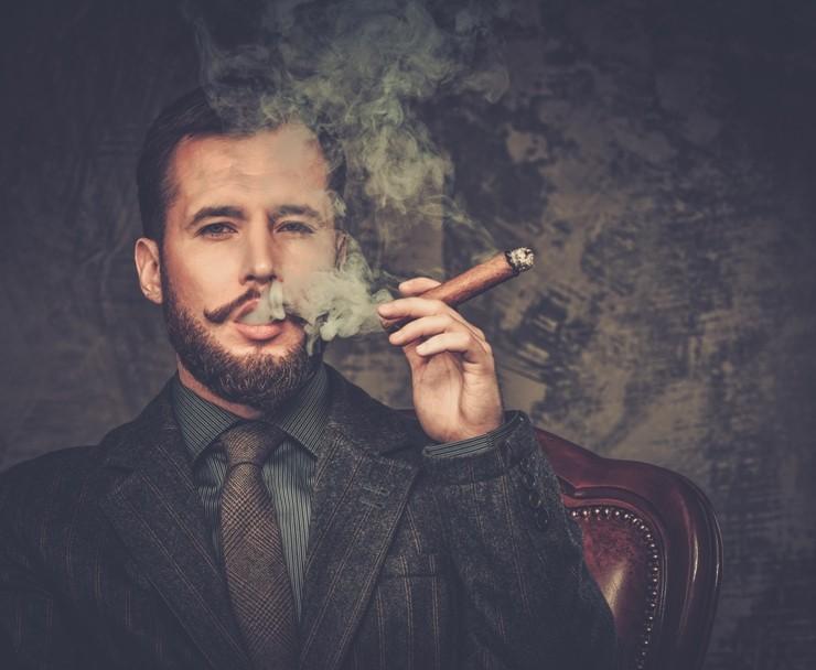 Man-Smoking-Cigar