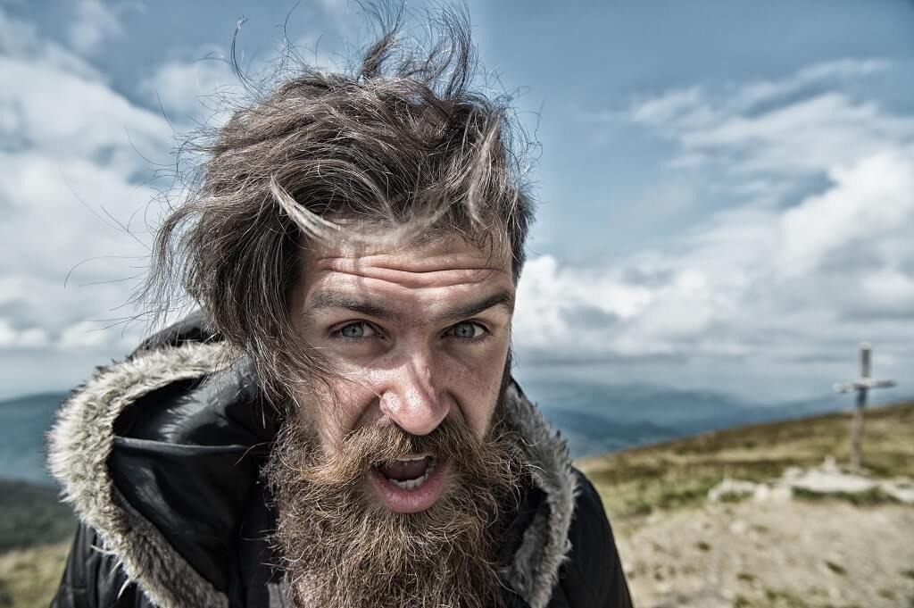 dry beard